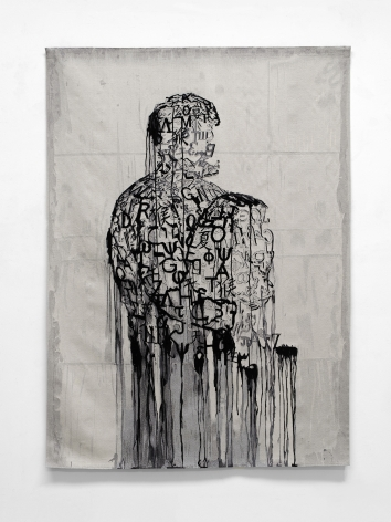Jaume Plensa L'écrivain prisonnier, 2019 Wool tapestry 80.7 x 57.1 inches (205 x 145 cm) GP2657.2 / W22101 Edition 2 of 3