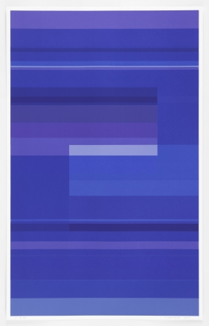 Kate Shepherd  Protest Violet #30, 2016 Screen print on Coventry rag paper   39.5 x 25 inches (100.3 x 63.5 cm)   Edition 1 of 1   GL10547