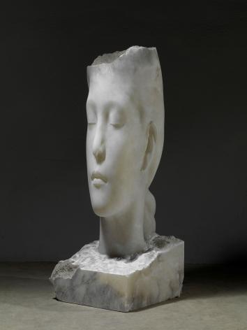 Alabaster head sculpture