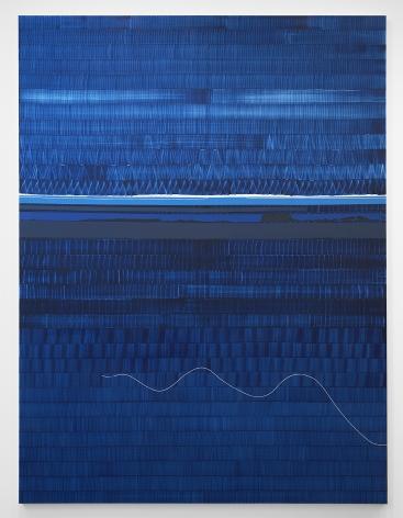 Juan Uslé Soñé que revelabas (Hudson blue), 2021 Vinyl, dispersion, and dry pigment on canvas 120.1 x 89.75 inches (305 x 228 cm) (GL15000)