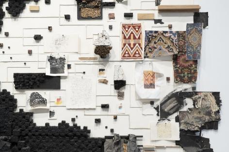 Leonardo Drew Detail: Number 304, 2021 Wood, paint, and black garnet stones on paper 149.5 x 179 x 26 inches (379.7 x 454.7 x 66 cm) (GL15088)