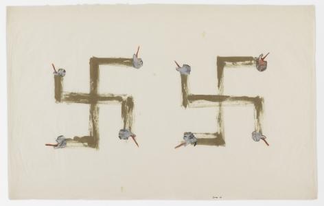 Nancy Spero Swastikas, 1968