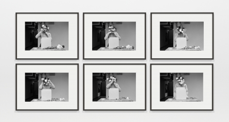 Ana Mendieta Untitled, 1973 / 2020 Suite of six black and white photographs Each: 16 x 20 inches (40.6 x 50.8 cm) Framed, each: 21.75 x 28 inches (55.2 x 71.1 cm) Edition of 12 with 3 AP (GP2623)