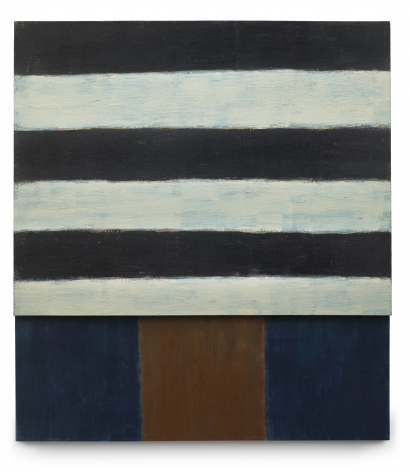 Sean Scully Wait, 1986 Signed, titled and dated on reverse Oil on two joined canvases 83 x 75 x 5 1/2 inches (210.8 x 190.5 x 14.5 cm) (GL8815)