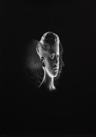 Jaume Plensa Aura I, 2020 Digital print 39 3/8 x 27 1/2 in (100 x 70 cm) Edition 24 of 30 (GP2718)