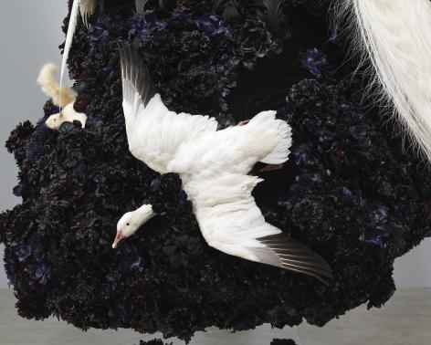 Petah Coyne Untitled #1375 (No Reason Except Love: Portrait of a Marriage) (detail), 2011-12