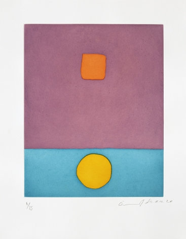 Etel Adnan Le soleil a vécu, 2020 Signed recto Etching 19 1/8 x 15 in (48.5 x 38 cm) Edition 2 of 35 (#2/35) (GP2720)