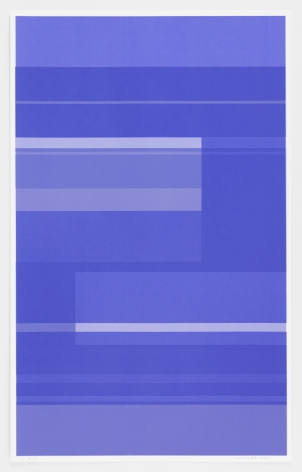 Kate Shepherd  Protest Violet #19, 2016 Screen print on Coventry rag paper 39.5 x 25 inches (100.3 x 63.5 cm) Framed: 42.25 x 27 x 2 inches (107.3 x 68.6 x 5.1 cm) Edition 1 of 1 GL10542.1
