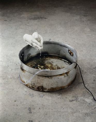 Jaume Plensa Freud's Children VII, 2001 Mixed media, water pump and water 29 x 52 x 46 cm (GL14862)