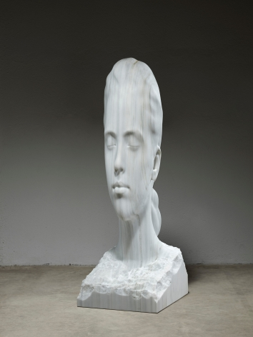 Jaume Plensa Juana's World, 2020 Marble 69 1/4 x 22 7/8 x 26 in (176 x 58 x 66 cm) 706 kg (GL14980)