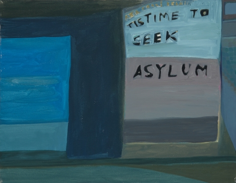 Ficre Ghebreyesus  Tis Time to Seek Asylum, c.2007-11  Acrylic on canvas  14 x 18 inches (35.6 x 45.7 cm)  GL13830