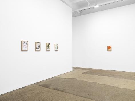 Installation view of Etel Adnan: Seasons at Galerie Lelong & Co., New York