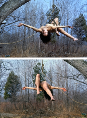 Carolee Schneemann Study for Up to and Including Her Limits, 1973-76 color photograph photo credit: Anthony McCall 5 x 3 1/2 in. 12.7 x 8.89 cm