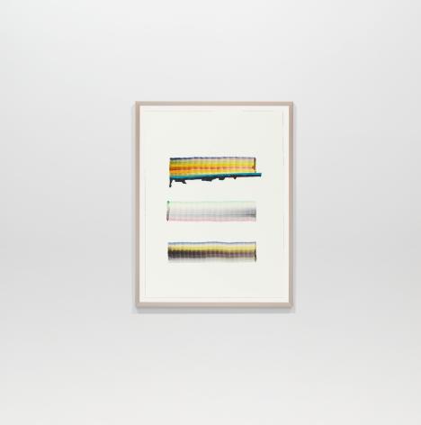 Juan Uslé  En Benissa, 2018  Watercolor on paper  12.2 x 9.06 inches (31 x 23 cm)  GL14579