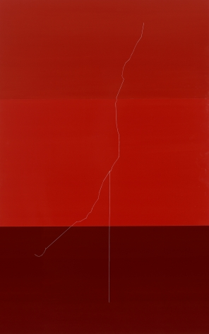 Kate Shepherd, wirethreadAaltohangman2.s6 (red wire sculpture), 2014