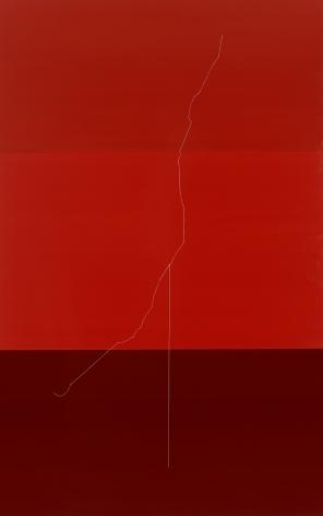 Kate Shepherd, wirethreadAaltohangman2.s6 (red wire sculpture), 2014