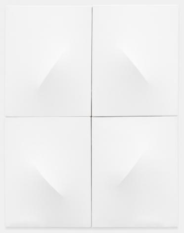 Zilia Sánchez Sin título, 2019 Acrylic on stretched canvas 35.7 x 28.2 x 3.75 inches (90.7 x 71.6 x 9.5 cm) (GL14178)
