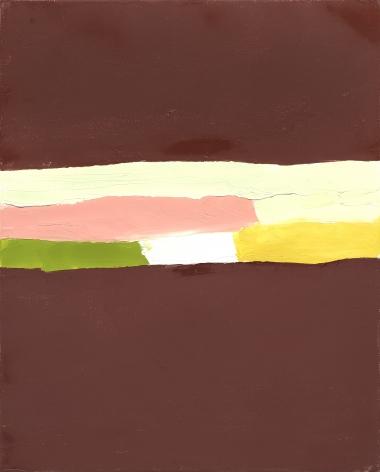 Etel Adnan Untitled, 2018 Oil on canvas 16.1 x 13 inches (41 x 33 cm) Framed: 18.4 x 15.4 x 1.6 inches (46.8 x 39.2 x 4.1 cm) (GL12674)