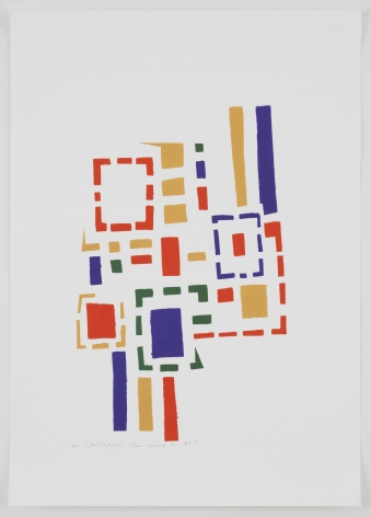 Mildred Thompson Untitled (No #I), 1973 Signed, numbered, and dated recto Silkscreen print on paper 24.1 x 17.1 inches (61.1 x 43.5 cm) Framed: 29 7/8 x 23 1/4 x 1 5/8 in (76 x 59 x 4 cm) Edition 1 of 10 (#1/10) (GP2311)
