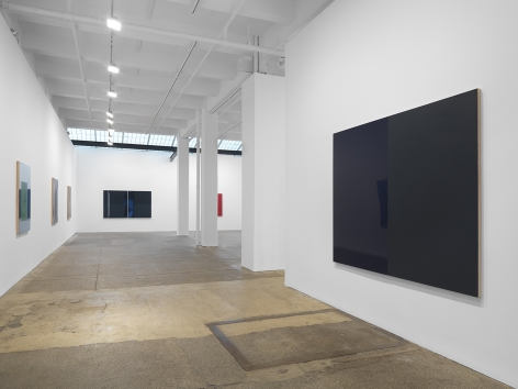 Installation view, Kate Shepherd: Surveillance, at Galerie Lelong, New York.
