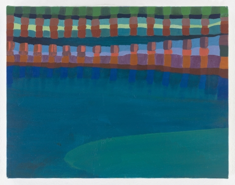 Ficre Ghebreyesus  Gate to the Blue, c. 2002-07  Acrylic on canvas  11 x 14 inches (27.9 x 35.6 cm)  GL13745