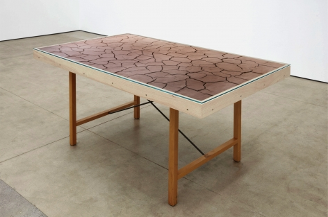 Andy Goldsworthy Clay Desk, 2020 Clay and desk