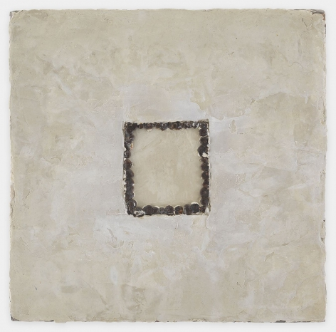 Michelle Stuart Frame, 1998 Seeds, beeswax, pigment on canvas 12 x 12 inches (30.5 x 30.5 cm) GL12756
