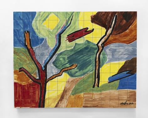 Etel Adnan Morning, 2019 Ceramic 63 x 78.7 inches (160 x 200 cm) GL14598 / W21887