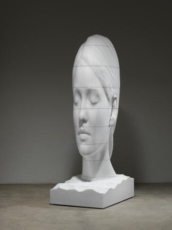 Jaume Plensa MARIA WHISPERING, 2021 Marble 99 5/8 x 33 1/2 x 44 7/8 in (253 x 85 x 114 cm) 2489 kg (GL15065)