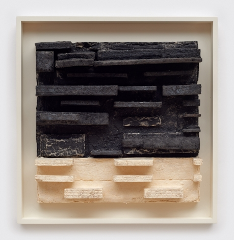 Leonardo Drew Number 65P, 2017 Pigmented and cast handmade paper with hand applied pigment 13 x 12.5 inches (33 x 31.8 cm) Framed: 16.75 x 15.25 inches (42.5 x 38.7 cm) Edition of 10 (GP2712)