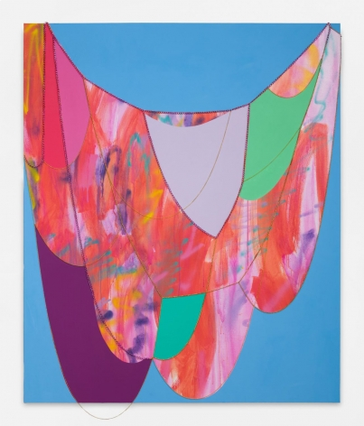 Sarah Cain Emotions, 2018 Acrylic and chains on canvas 72 x 60 inches (182.9 x 152.4 cm) GL12883