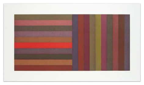 Sol LeWitt Horizontal Color Bands and Vertical Color Bands, 1991 Aquatint on Somerset Satin White paper 24 x 42 inches (61 x 106.7 cm) Edition of 30 GP0275-2