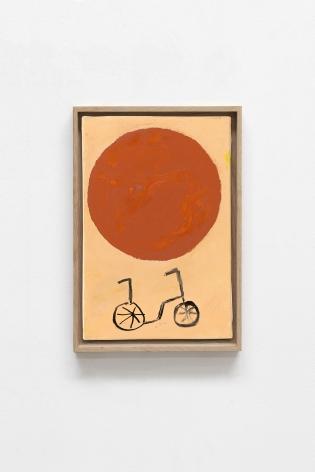 Etel Adnan Planète 12, 2020 Oil on canvas 13 x 8.7 inches (33 x 22 cm) Framed: 14.25 x 9.9 inches (36.2 x 25.1 cm)  GL14744