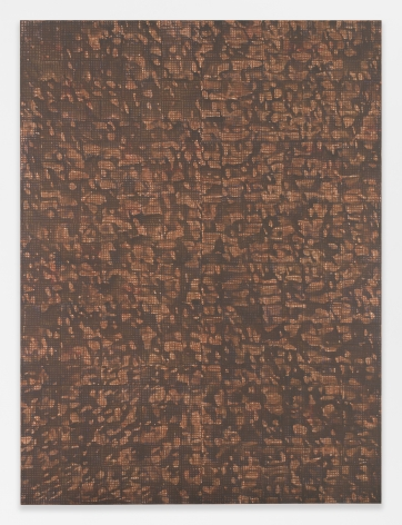 McArthur Binion DNA: Sepia: II, 2016 Signed, titled, and dated on reverse Oil paint stick, sepia ink, and paper on board 96 x 72 inches (243.8 x 182.9 cm) (GL10717)