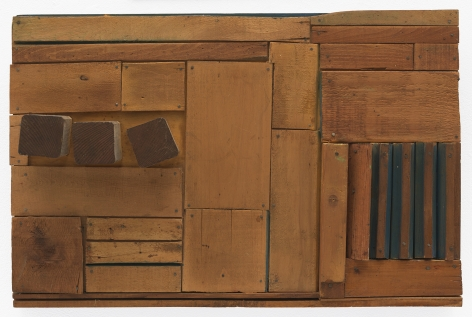 Mildred Thompson Wood Picture, c. 1967 Wood, paint, nails 16.25 x 24.75 x 4.25 inches (41.3 x 62.9 x 10.8 cm) (GL12317)