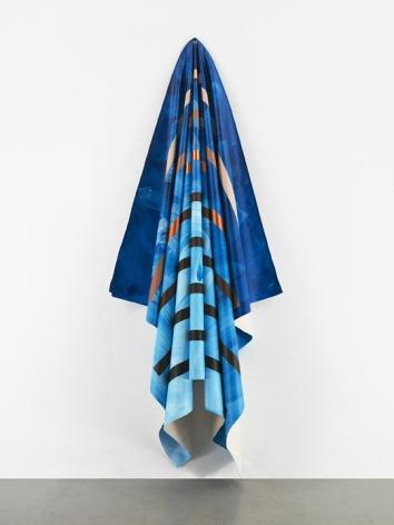 Tariku Shiferaw Caribbean Queen (Billy Ocean), 2021 Acrylic on canvas 94.5 x 36.5 x 15 inches (240 x 92.7 x 38.1 cm) (GL15007)