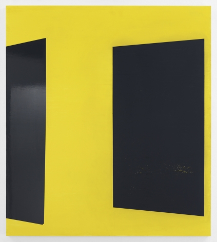Kate Shepherd YellOw, 2020 Enamel on panel 52 x 46 inches (132.1 x 116.8 cm) GL14486 (Photographed with reflections)