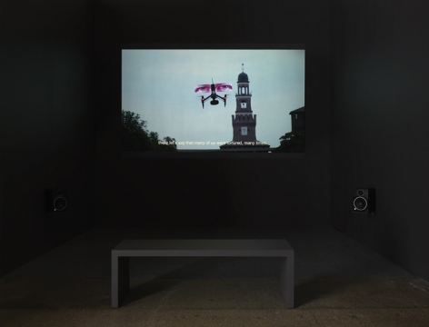 Krzysztof Wodiczko, Four Public Projections, 2020 [still from Loro/Them (2019)]. Video, Running time: 22 minutes 36 seconds.