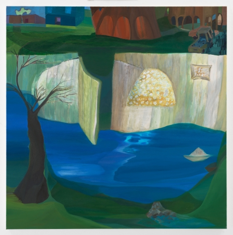 Ficre Ghebreyesus Gate to the Compound, 2006 Acrylic on canvas 48.25 x 48.25 inches (122.6 x 122.6 cm) GL13397