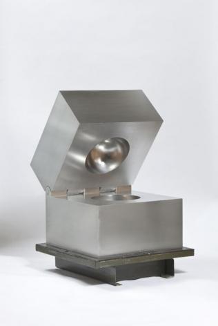 Cildo Meireles   Esfera invisível [Invisible Sphere], 2014   Aluminum   4 x 4 x 4 inches (10 x 10 x 10 cm)   Edition 5 of 20   GP1914.5