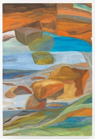 FICRE GHEBREYESUS  Untitled, 2011  Acrylic on canvas  36 x 24 inches (91.4 x 61 cm) Framed: 38.5 x 26.5 x 2 inches (97.8 x 67.3 x 5.1 cm)  (GL13520)