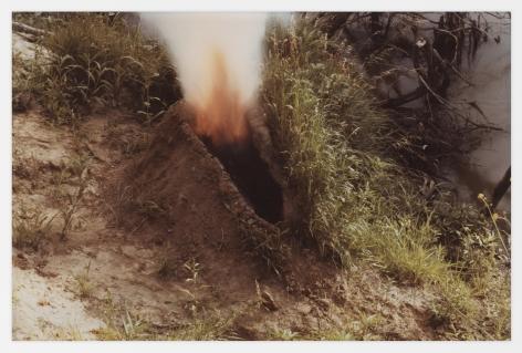 Ana Mendieta Volcán, 1979 Color photograph 8 x 10 inches (20.3 x 25.4 cm)  Framed: 13.75 x 17 x 1.75 inches (34.9 x 43.2 x 4.4 cm)
