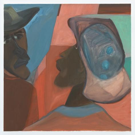 Ficre Ghebreyesus Untitled, c.2011 Acrylic on canvas 24 x 24 inches (61 x 61 cm) Framed: 26 1/2 x 26 1/2 x 1 3/4 in (67.3 x 67.3 x 4.4 cm) (GL13536)