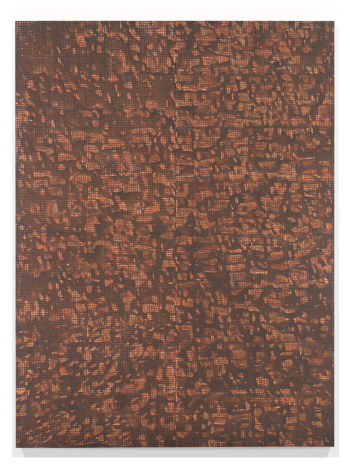 McArthur Binion DNA: Sepia: II, 2016 Oil paint stick, sepia ink, and paper on board 96 x 72 inches (243.8 x 182.9 cm) GL10717