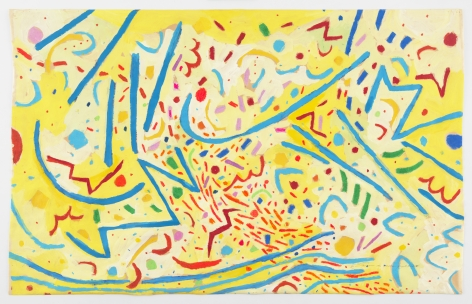Mildred Thompson Magnetic Fields V, 1991 Signed, titled, and dated recto Gouache on paper 27 x 43 inches (68.6 x 109.2 cm) Framed: 32 x 48 1/4 x 1 13/16 inches (81.3 x 122.6 x 4.6 cm) (GL12227)
