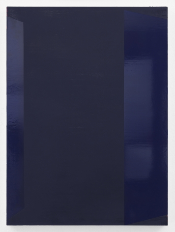 Kate Shepherd 34 Purple, Canny Walls, 2020 Enamel on panel 34 x 25 inches (86.4 x 63.5 cm) GL14484 (Photographed with reflections)