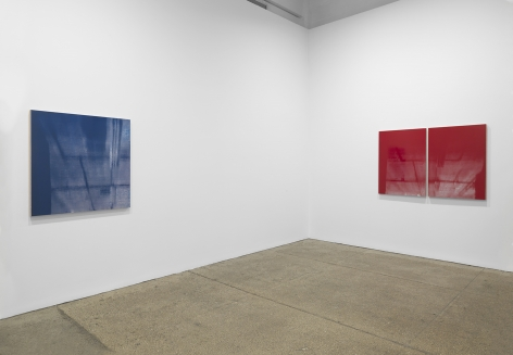Installation view, Kate Shepherd: Surveillance, at Galerie Lelong, New York.