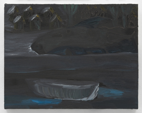 Ficre Ghebreyesus  Boat at Night, c.2002-07  Oil on canvas  11 x 14 inches (27.9 x 35.6 cm)  GL14135