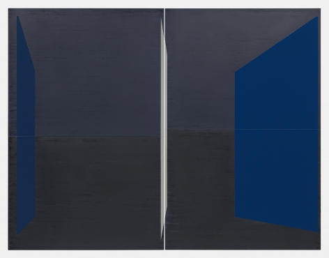 Kate Shepherd Guest, 2019 Enamel on panel Diptych: 68 x 88 inches (172.7 x 223.5 cm) overall (GL 14288)