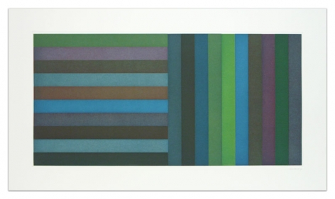 Sol LeWitt Horizontal Color Bands and Vertical Color Bands, 1991 Aquatint on Somerset Satin White paper 24 x 42 inches (61 x 106.7 cm) Edition of 30 GP0275-3